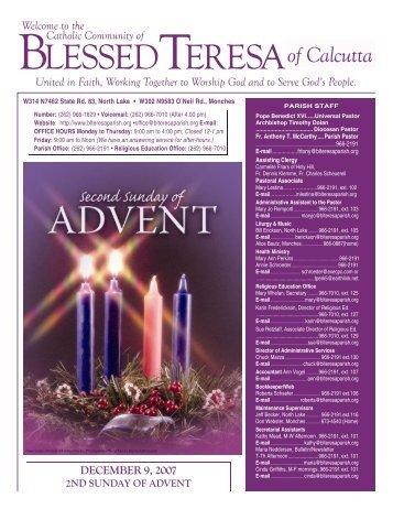 09Dec2007 - Blessed Teresa of Calcutta Parish