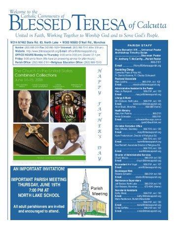 15June2008 - Blessed Teresa of Calcutta Parish