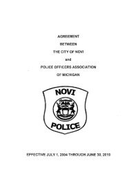 agreement between the city of novi police officers ... - MichiganScience