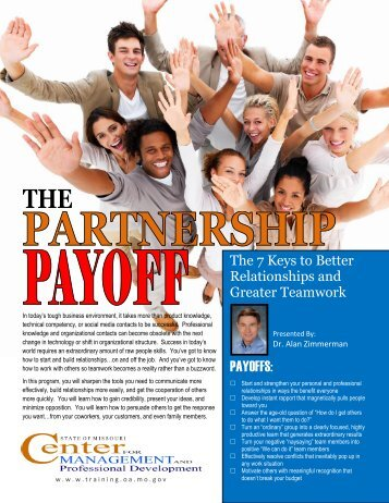 The Partnership Payoff - Center for Management and Professional ...