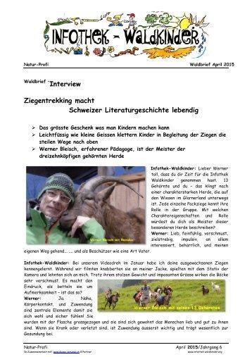 Infothek Waldkinder  - Interview: Ziegentrekking macht Schweizer Literaturgeschichte lebendig