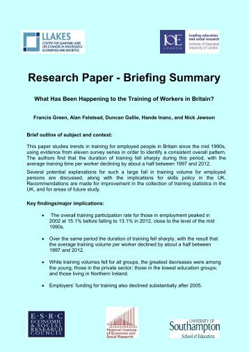 Brief course summary, Exercise overview, List of papers