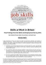 Skills at Work in Britain - llakes