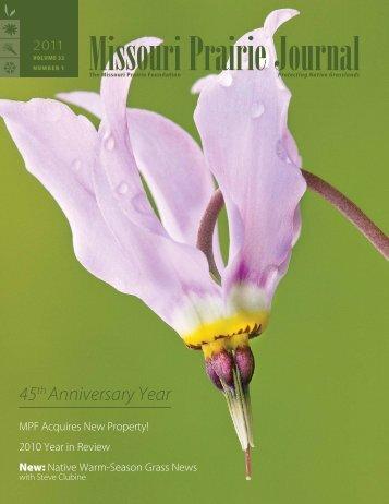 Spring 2011: Volume 32, Number 1 - Missouri Prairie Foundation