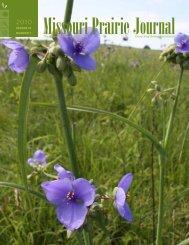 Spring 2010: Volume 31, Number 1 - Missouri Prairie Foundation