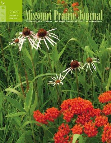 Spring 2009: Volume 30, Number 1 - Missouri Prairie Foundation