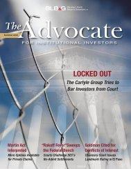 Download Summer 2012 Issue - Bernstein Litowitz Berger ...
