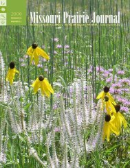 Summer 2008: Volume 29, Number 2 - Missouri Prairie Foundation