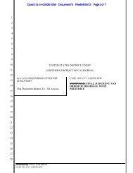 Final Judgement and Order of Dismissal with Prejudice