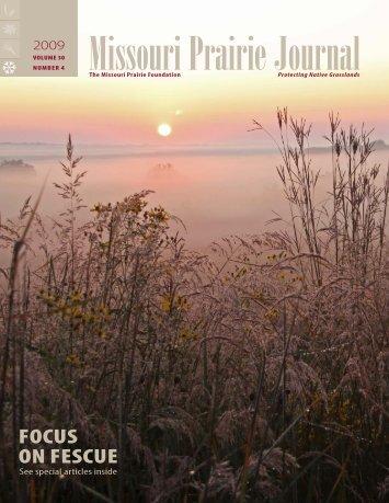 Winter 2009: Volume 30, Number 4 - Missouri Prairie Foundation