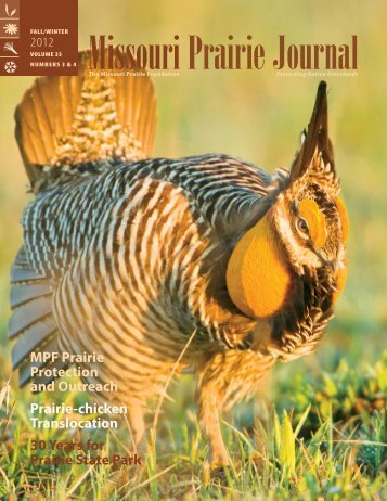 Fall & Winter 2012: Volume 33, Numbers 3 & 4 - Missouri Prairie ...