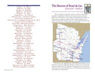The Diocese of Fond du Lac