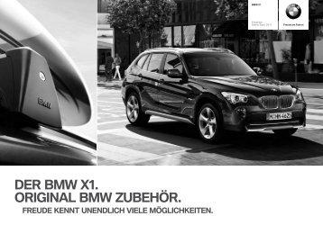 DER BMW X1. ORIGINAL BMW ZUBEHÖR.