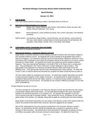 Board Meeting Minutes 01-13-11(pdf) - NEMCMH.org