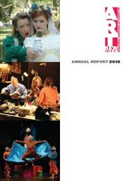 annual report 2010 - The Alliance of Resident Theatres/New York