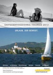GastGeberverzeichnis traunsee 2012 urlaub, der beweGt.