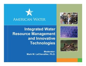 Integrated Water Resource Management and Innovative ... - NAWC