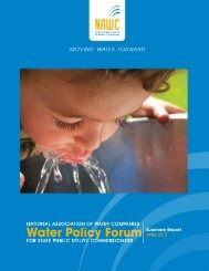 The 2012 NAWC Water Policy Forum Summary Report