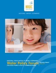 2011 Water Policy Forum Report - NAWC
