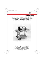 Monterings- och bruksanvisning gasolgrill Art.-Nr. 12202 - Landmann
