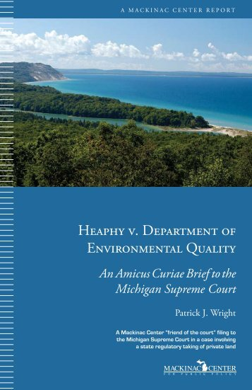 Heaphy v. Department of Environmental Quality - Mackinac Center