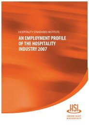 Employment in the Hospitality Industry - Infometrics