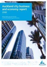 Auckland city business and economy report 2008 - Infometrics