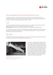 Encouragement Prize for Young Artists 2013 - Nationale Suisse Group