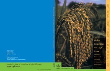 2001 CGIAR Annual Report - CGIAR Library