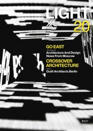 CroSSoVer arCHiteCtUre Go eaSt - Vedder Lichtmanagement