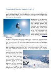 Worauf beim Skifahren im Frühling zu achten ist