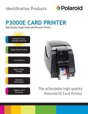 Polaroid P3000E Card Printer