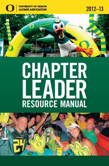 Chapter Leader Resource Manual - UO Alumni Association