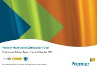 Premier Multi-Asset Distribution Fund - QUARTERLY REPORT - 2013