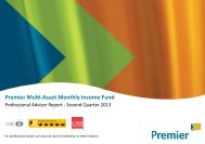 Premier Multi-Asset Monthly Income Fund - QUARTERLY REPORT