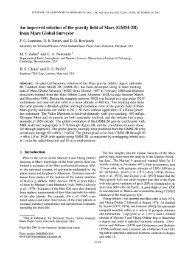 An improved solution of the gravity field of Mars (GMM-2B) from ...