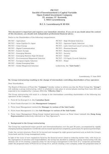 17 June 2013 - Pictet Funds Hong Kong