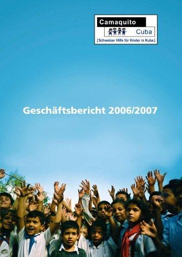 Geschäftsbericht 2006/2007 - Camaquito