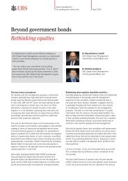 Beyond government bonds Rethinking equities - Funds People ...
