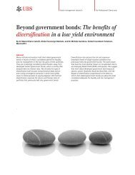 Beyond government bonds: The benefits of ... - Funds People