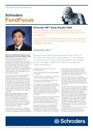 Schroder ISF* Asian Equity Yield - Funds People