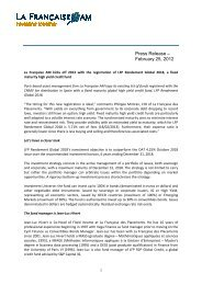 Press release Enregistrement de fonds Spain Feb ... - Funds People