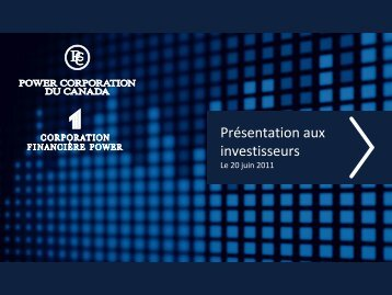 Voir la présentation - Power Corporation of Canada