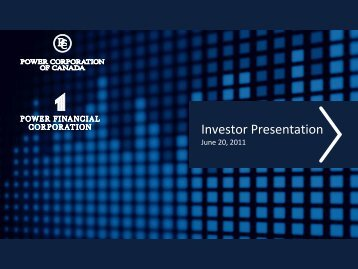 View Presentation - Power Corporation of Canada