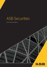 Client Services Agreement Terms and Conditions - ASB Securities