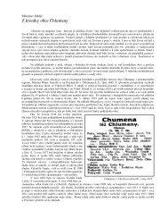 Z kroniky obce Chlumany - rodopisna-revue-online