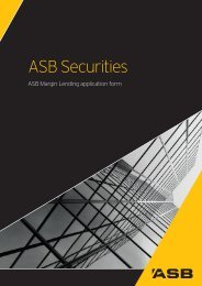 Application Form with Terms and Conditions - ASB Securities