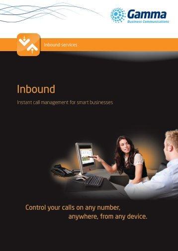 Inbound brochure - Gamma Business Communications