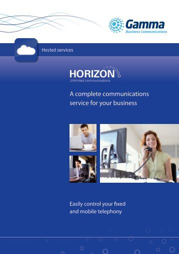 Horizon Brochure - Gamma Business Communications