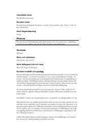 Svenska som andraspråk för lärare i svenska för invandrare (sfi), 30 hp (1–30)